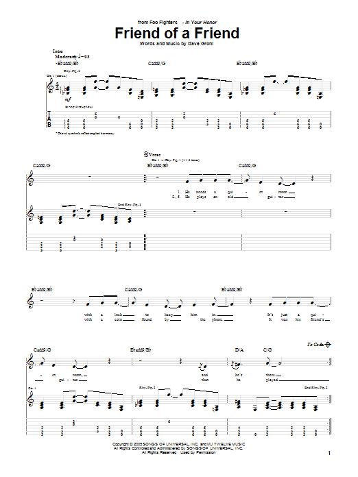 Sheet Music Digital Files To Print - Licensed Foo Fighters Digital ...