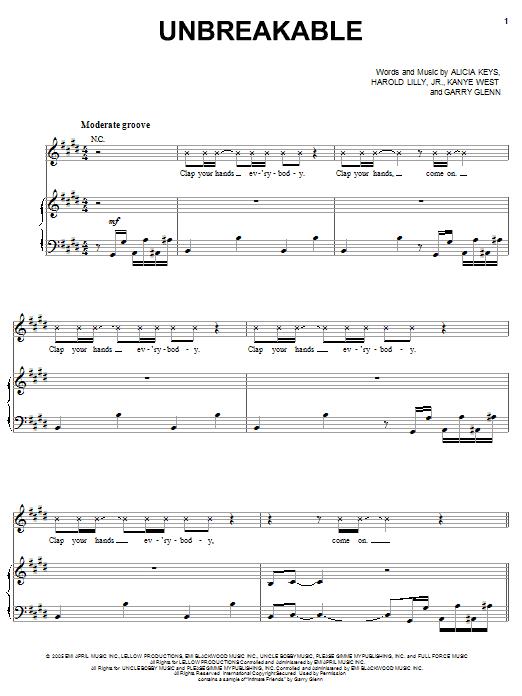 Sheet Music Digital Files To Print Licensed Alicia Keys Digital