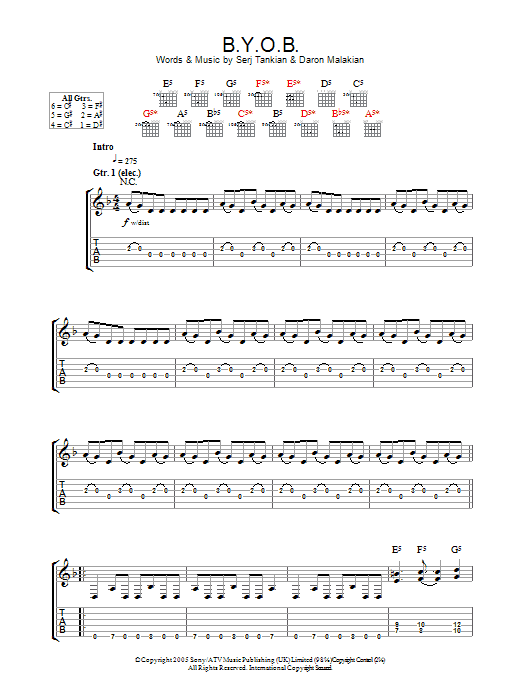 Roulette by system of a down chords / Slots togo