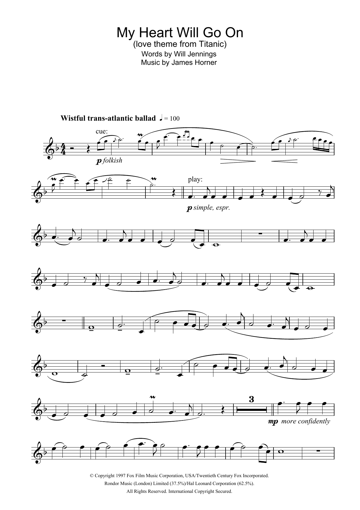 Violin violin chords my heart will go on : Sheet Music Digital Files To Print - Licensed James Horner Digital ...