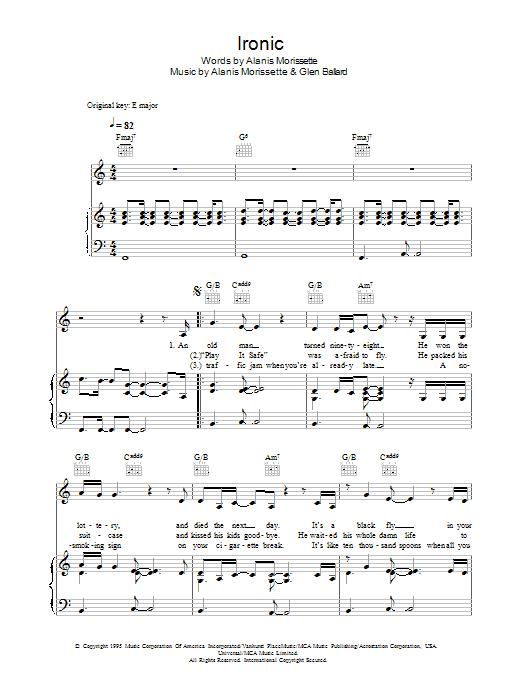 Sheet Music Digital Files To Print - Licensed Alanis Morissette ...