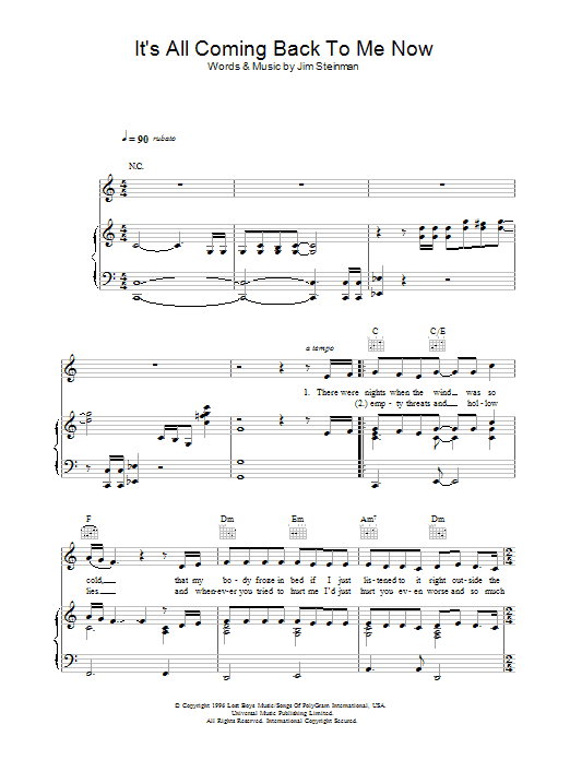 Sheet Music Digital Files To Print - Licensed Jim Steinman Digital ...
