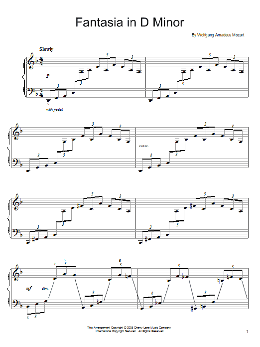 fantasy in d minor analysis Composition of the fantasy in c minor, k mozart opens the k 475 fantasy with a bare statement of just such a c-minor, f pivotted scale (figure 51).