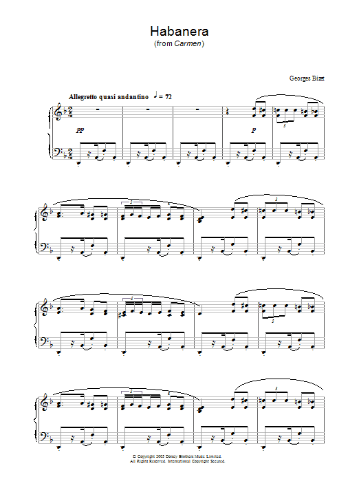 Sheet Music Digital Files To Print - Licensed Georges Bizet Digital ...