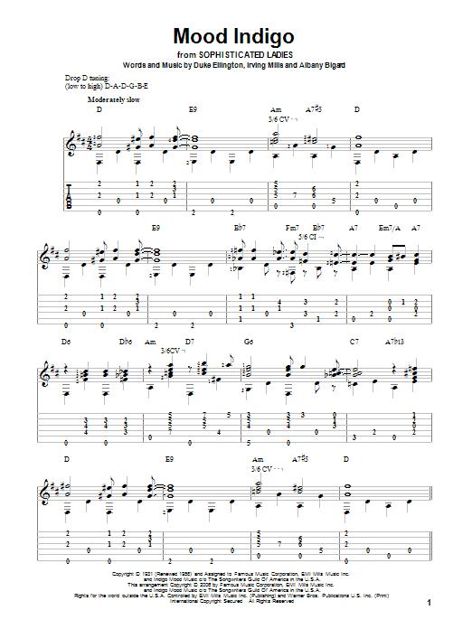 Tablature guitare Mood Indigo de Duke Ellington - Tablature Guitare