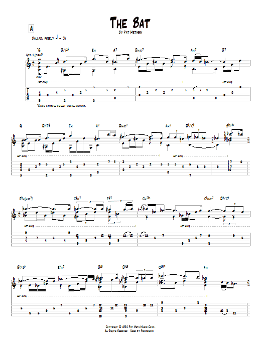 Tablature guitare The Bat de Pat Metheny - Tablature Guitare
