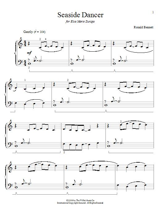 Partition piano Seaside Dancer de Ronald Bennett - Piano Solo