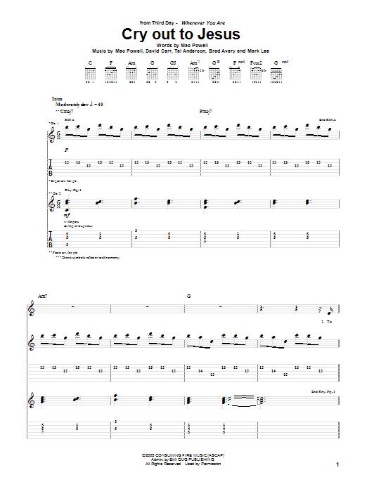 Third Day - Cry Out To Jesus Lyrics - ilikelyrics.com