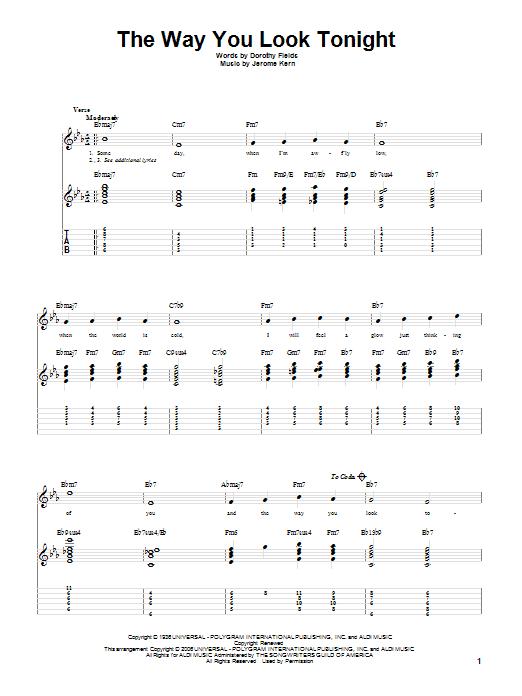 the way you look tonight piano sheet music free pdf