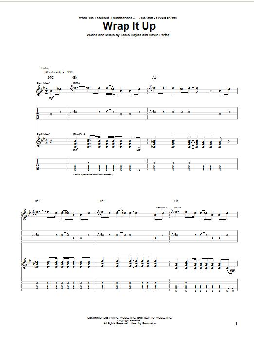 Tablature guitare Wrap It Up de Fabulous Thunderbirds - Tablature Guitare