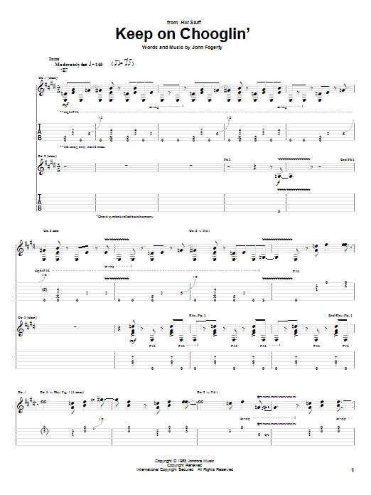 Tablature guitare Keep On Chooglin' de Creedence Clearwater Revival - Tablature Guitare
