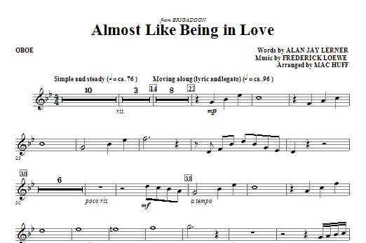 Almost Like Being In Love (COMPLETE) sheet music for orchestra/band (Special) by Mac Huff