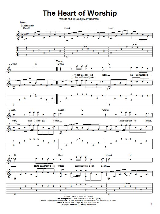 Sheet Music Digital Files To Print - Licensed Matt Redman Digital ...