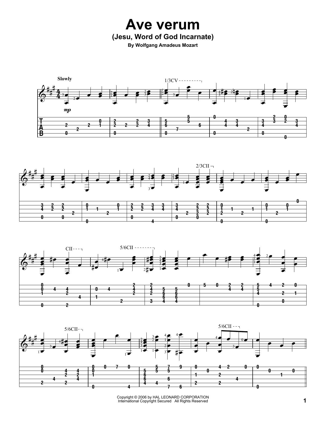 ave verum corpus lyrics