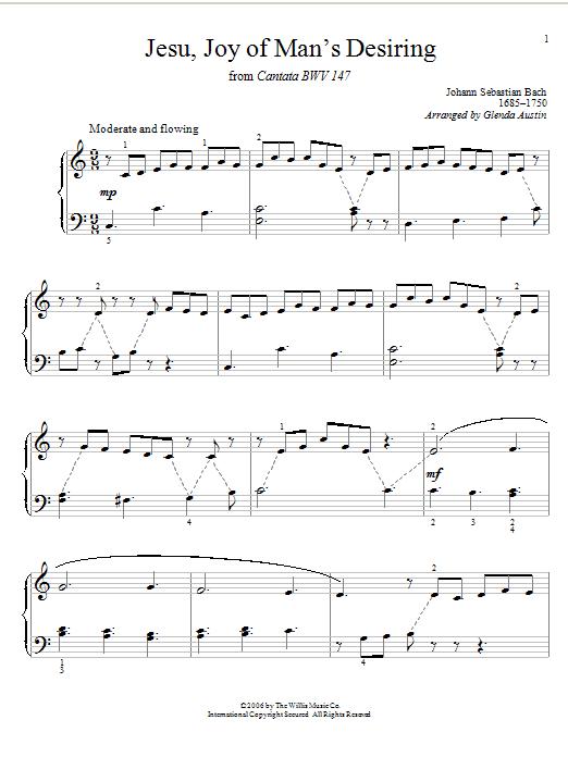 jesu joy of man s desiring sheet music direct
