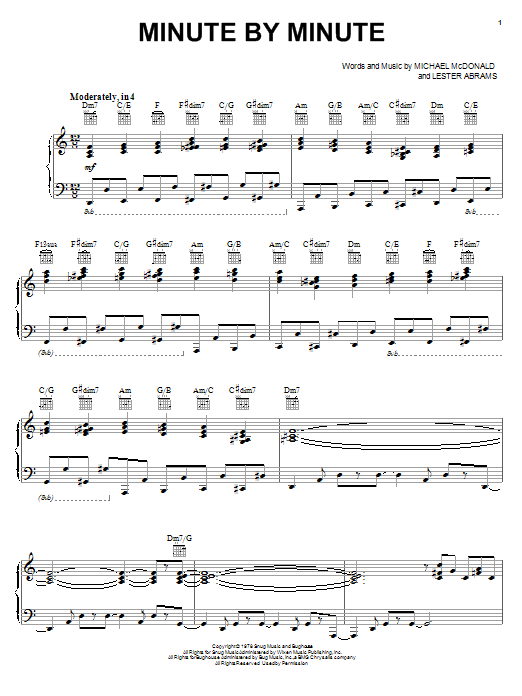 Michael McDonald Collection (complete set of parts) sheet music for voice, piano or guitar by Michael McDonald