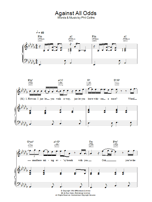 Against All Odds (Take A Look At Me Now) | Sheet Music Direct | 522 x 696 png 11kB