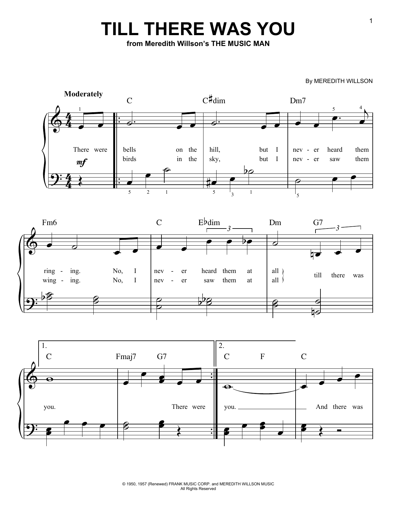 Sheet Music Digital Files To Print - Licensed The Music Man (Musical ...