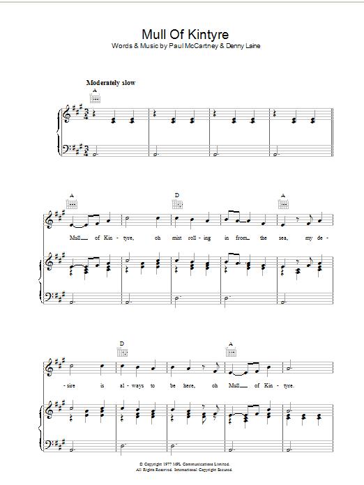 Sheet Music Digital Files To Print Licensed Paul Mccartney Digital