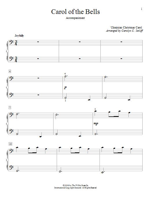 Partition piano Carol Of The Bells de Traditional Ukrainian Carol - 4 mains