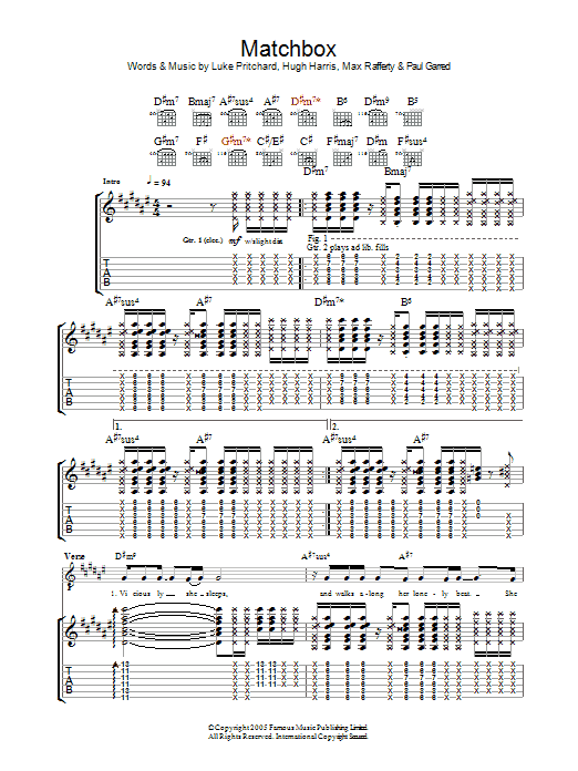 MATCHBOX Chords - The Beatles | E-Chords