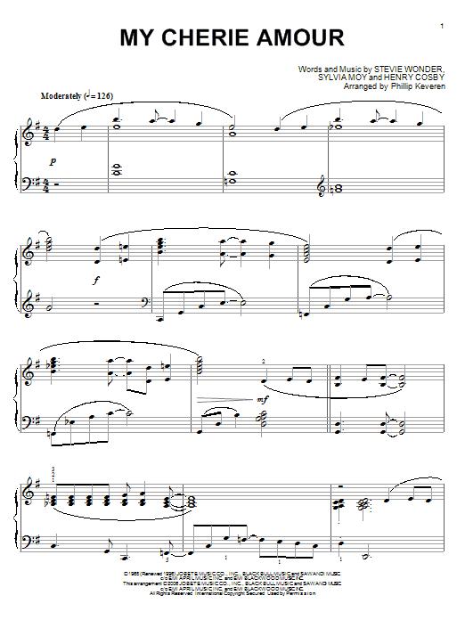 Partition piano My Cherie Amour de Stevie Wonder - Piano Solo
