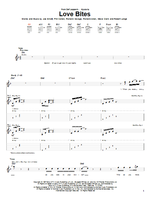 Sheet Music Digital Files To Print Licensed Def Leppard Digital