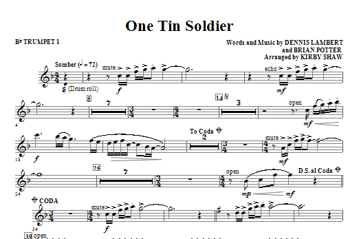 One Tin Soldier (COMPLETE) sheet music for orchestra/band (chamber ensemble) by Kirby Shaw