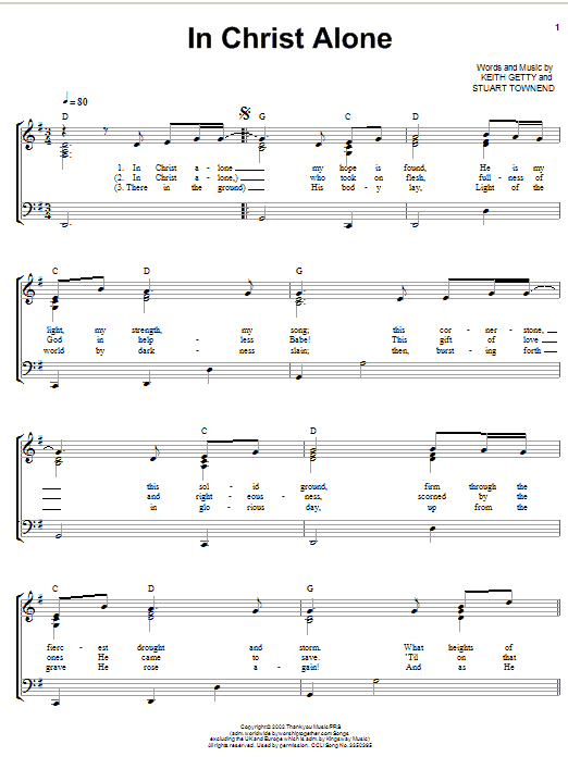 In christ alone guitar chords
