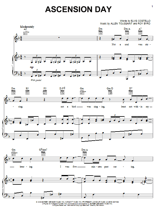 Ascension Day sheet music for voice, piano or guitar by Roy Byrd