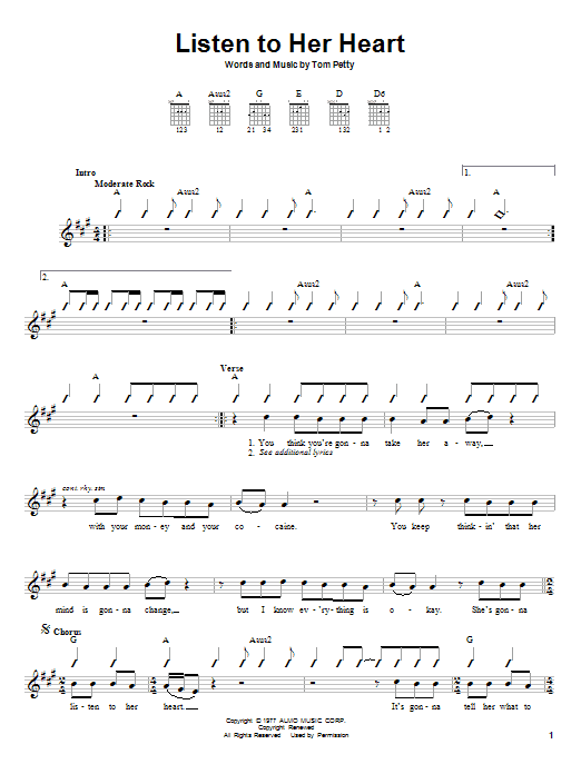 Tablature guitare Listen To Her Heart de Tom Petty - Autre