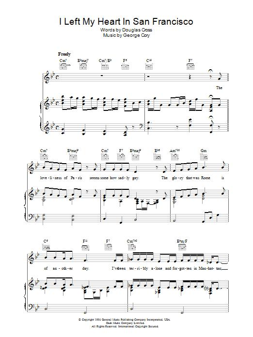Sheet Music Digital Files To Print - Licensed Tony Bennett Digital ...