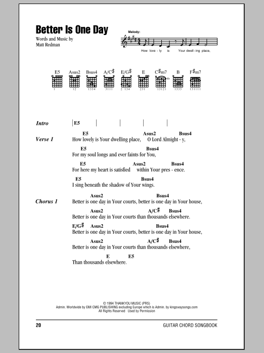 Better Is One Day Chords Pdf Dolapgnetband
