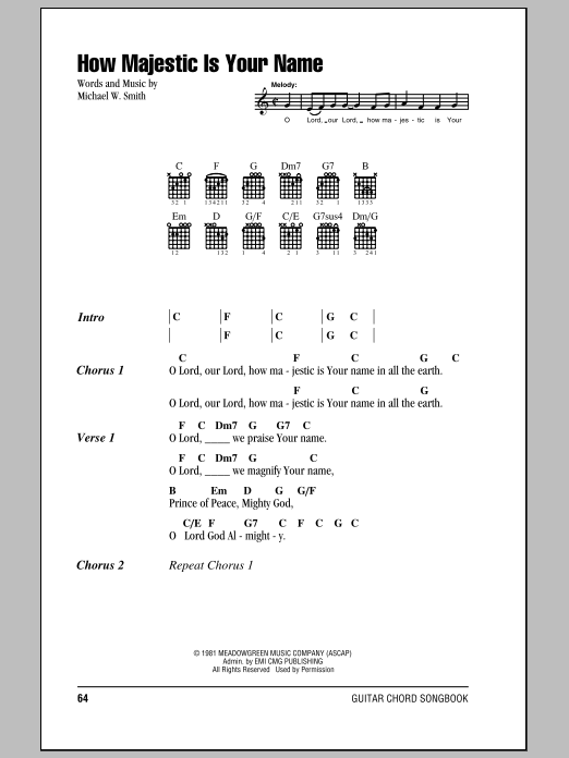 how majestic is your name chords pdf