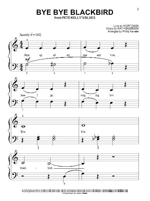 Partition piano Bye Bye Blackbird de Mort Dixon - Piano Solo