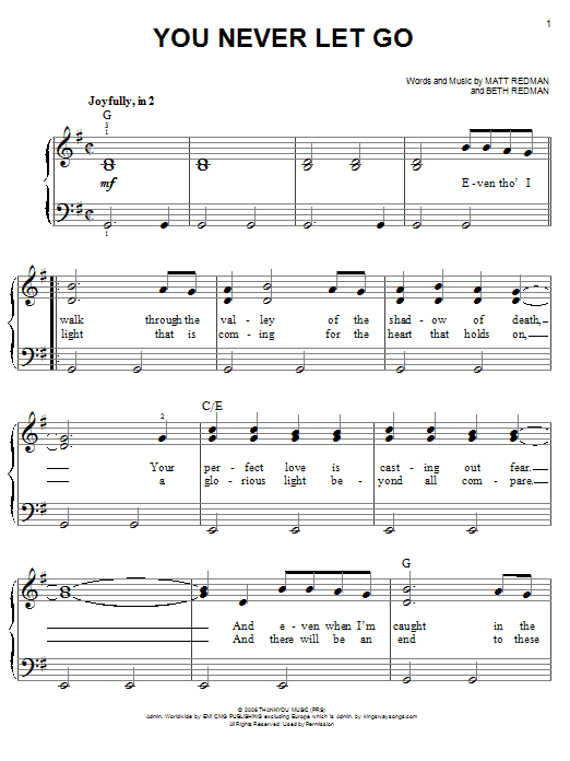 Sheet Music Digital Files To Print Licensed Matt Redman Digital