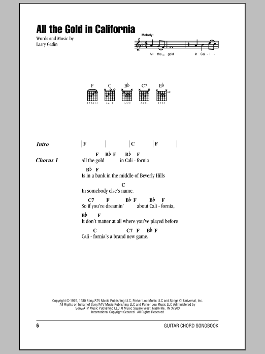 Sheet Music Digital Files To Print - Licensed The Gatlin Brothers ...