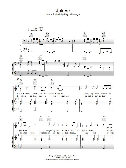 Jolene : Sheet Music Direct