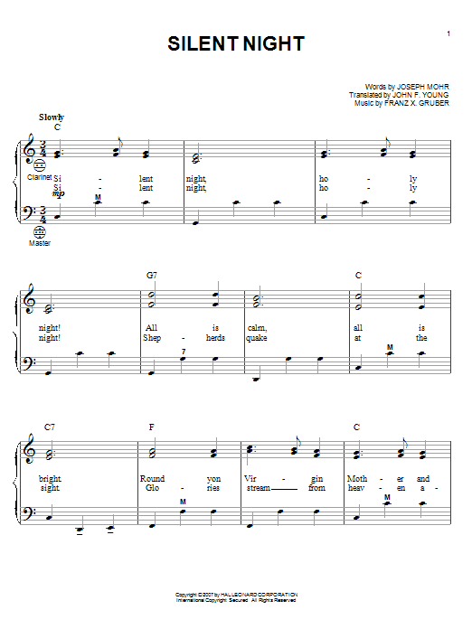 Partition autre Silent Night de Gary Meisner - Accordeon