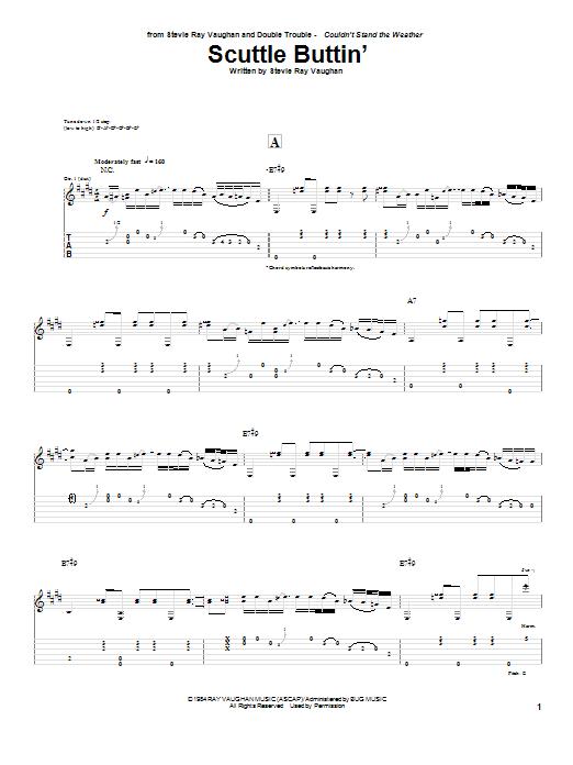 Tablature guitare Scuttle Buttin' de Stevie Ray Vaughan - Tablature Guitare