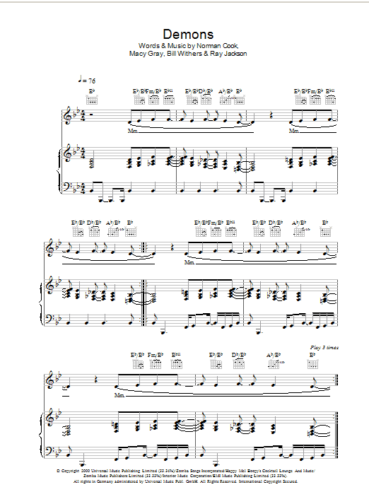 Demons - Search Results : Sheet Music Direct