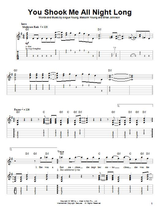 Ac dc guitar chords