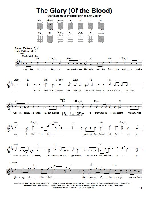 Tablature guitare The Glory (Of The Blood) de Avalon - Tablature guitare facile