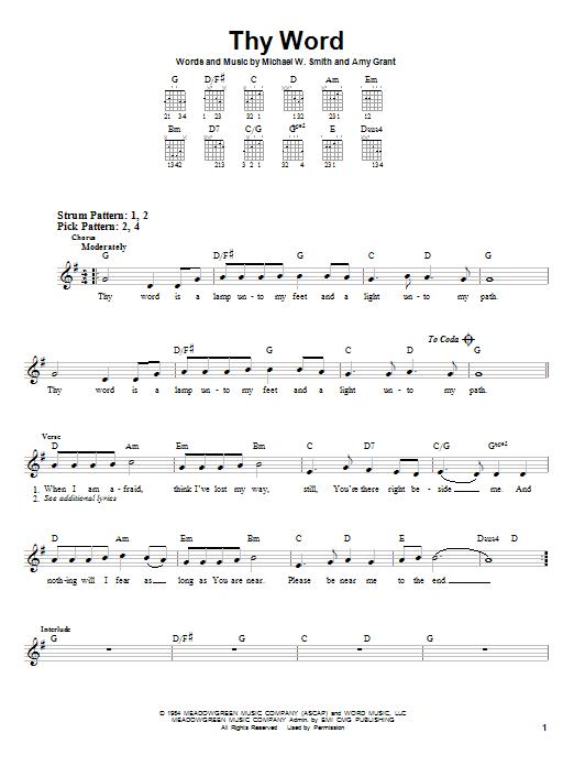 Thy Word | Sheet Music Direct