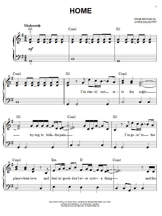 Sheet Music Digital Files To Print Licensed Chris Daughtry Digital