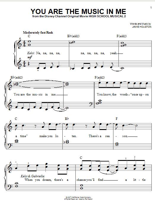 high school musical para piano: