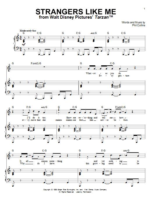 Sheet Music Digital Files To Print - Licensed Phil Collins Digital ...