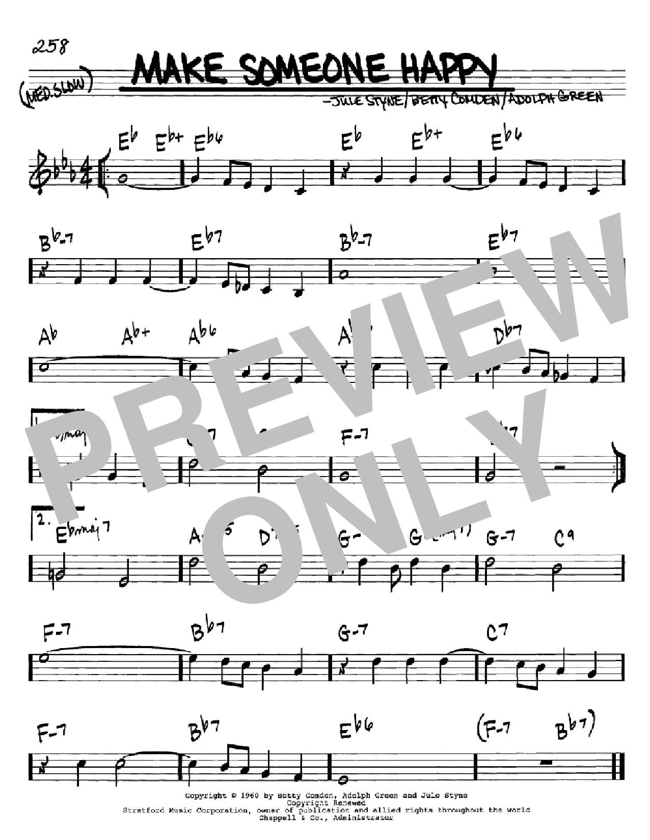 Partition autre Make Someone Happy de Betty Comden - Real Book, Melodie et Accords, Inst. En Do