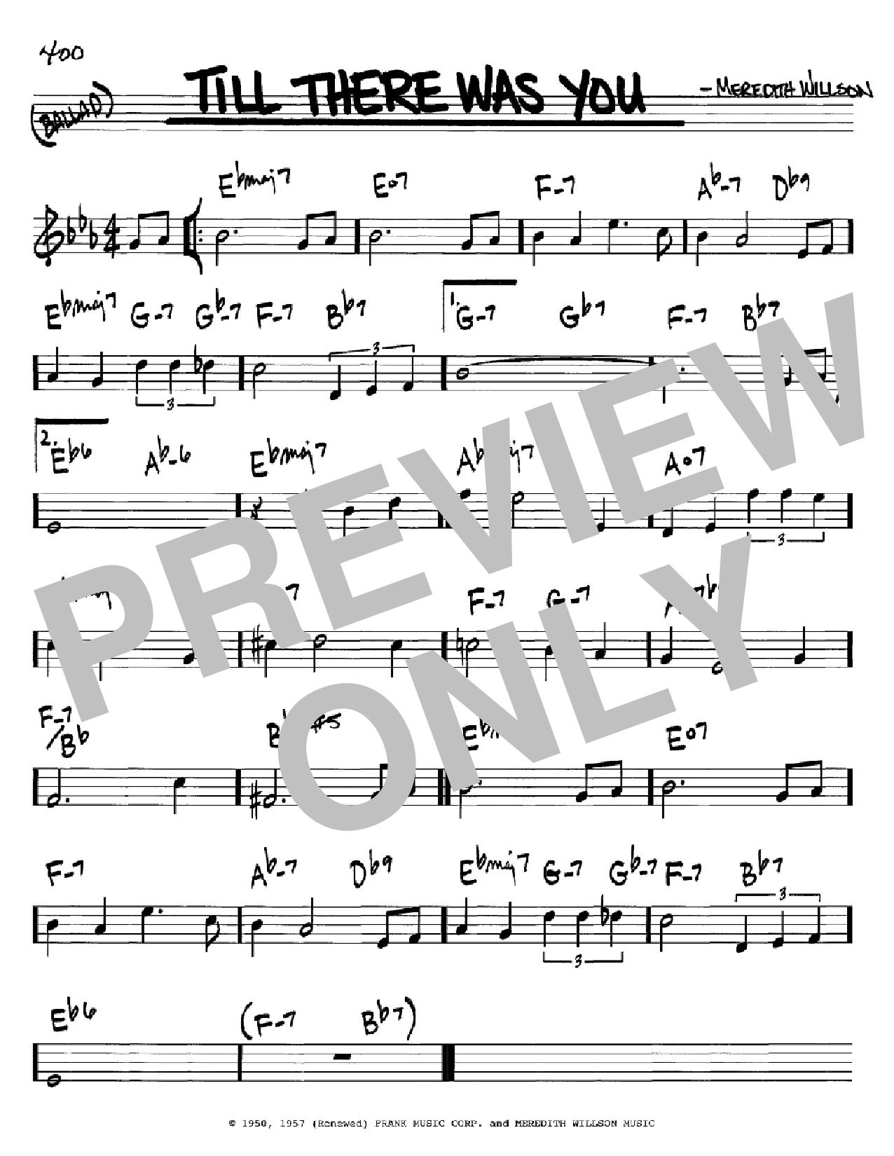 Partition autre Till There Was You de The Beatles - Real Book, Melodie et Accords, Inst. En Do
