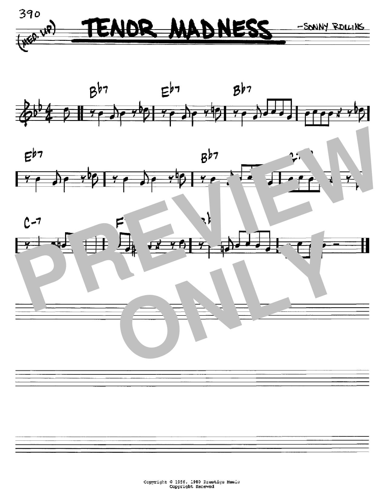 Partition autre Tenor Madness de Sonny Rollins - Real Book, Melodie et Accords, Inst. En Do